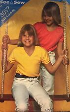 BUTTERICK See&Sew pattern 3097 girl's size 7,8,10 to make a stretch knit top