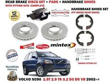 FOR VOLVO XC90 T6 D3 D5 V8 3.2 2002-> REAR BRAKE DISCS SET + PADS + FITTING KITS