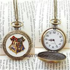 Collana orologio funzionante HARRY POTTER stemma Hogwarts grifondoro serpever HP