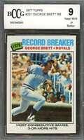 George Brett Card 1977 Topps #231 Kansas City Royals BGS BCCG 9