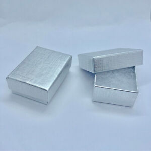 Silver Gift Box Earrings Charms Small Present Gift Jewellery Wholesale Bulk Buy