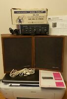Vintage REALISTIC stereo equipment! Original box&paper work! OFFERS ENCOURAGED!