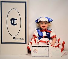 """New listing Vintage Turner Doll Hand Signed 674/750 27"""" Limited Liberty Virginia Ehrlich 5.1"""