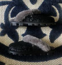 UGG Women's Coquette Slippers Sparkle Graffiti 1107029 Black 2020 USA Size 9