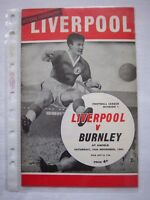 LIVERPOOL FC - BURNLEY FC  1963/64   Division 1   Orig.Programme  !!  RARE