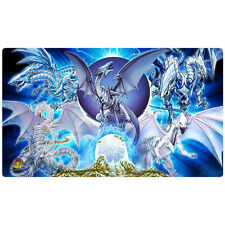 FREE SHIPPING Custom Yugioh Playmat Blue Eyes White Stone of Legend Playmat