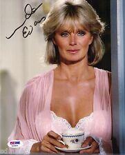 Linda Evans Signed 8x10 Auto PSA Dynasty The Big Valley Krystle Carrington