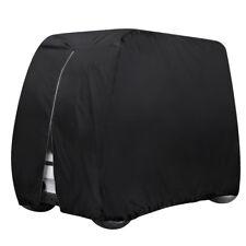 Waterproof Golf Cart Cover Zipper 4 Passenger EZ GO Club Car Yamaha Elastic Hem