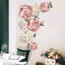 Peony Rose Flowers Wall Sticker Art Nursery Decals Kids Room Home Decor Gift CA