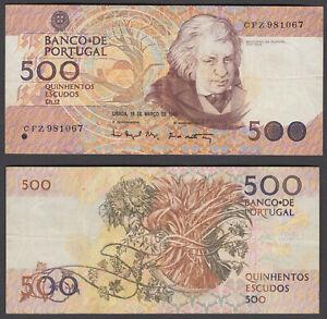 Portugal 500 Escudos 1993 (VF) Condition Banknote P-180f