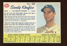 1962 Post Canadian Baseball Card #109 Sandy Koufax