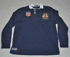 POLO Ralph Lauren 2012 USA Olympic Team L/S Shirt mens L LARGE England Logo Flag
