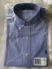 Ralph Lauren Polo Pony Classic Fit Oxford Long Sleeve Striped Dress Shirt S Smal