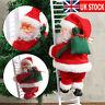 Musical Climbing Ladder Santa Claus Christmas Xmas Figurine Ornament Decor Gift