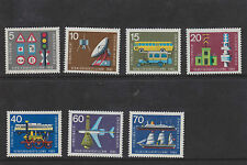 W GERMANY MNH STAMP DEUTSCHE BUNDESPOST 1965 TRANSPORT EXHIBITION SG 1389-1395
