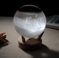Storm Glass Barometer Large Crystal Drops Sphere Shape Weather Forecaster