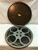 Vintage 16mm Movie Canister with Color Film movie Big Game Hunting scene