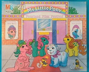 "VTG 1988 My Little Pony ""Ponyland Film Festival"" 24 PC Puzzle Complete! NM!"