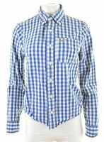 HOLLISTER Womens Shirt SIze 10 Small Blue Check Cotton Loose Fit  MP09