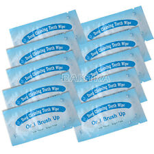 100X Dental Brush Up Whitening Finger Strips Wipes Tooth Deep Clean Oral Care