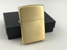ZIPPO Messing gebürstet - brass brushed Feuerzeug Das Original - 60001165