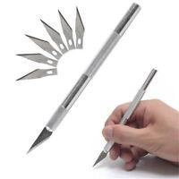 5PCS Hobby Razor Knife Set w/Blades w/Case Stencil Set (Exact Blades Fit Knife)
