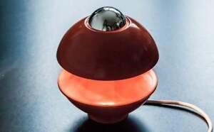 Klaus Hempel Red / Orange KAISER SPACE AGE Table Light 1960-70's Germany Winner