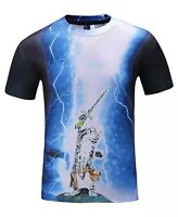 Cat Sword in the Stone T-Shirt ( all over funny cats merlin king arthur tee )