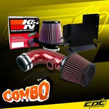 For 07-12 BMW 328i E90/E92/E93 3.0L 6cyl Red Cold Air Intake + K&N Air Filter