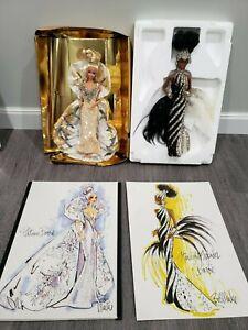 Starlight Splendor & Platinum Barbie Dolls by Bob Mackie Timeless Treasures 1991