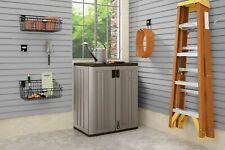 Suncast Base Storage Cabinet Utility Outdoor Shelf Yard Garden Patio Garage Box