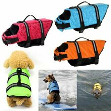 Dog Life Jacket Buoyancy Aid Pet Swimming Boating Reflective Safety Vest Suit