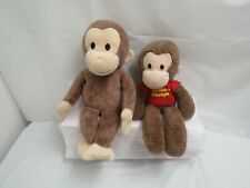 Lot Of 2 Curious George Plush Doll Lot Gund Kohls Tv & Book Character Monkey