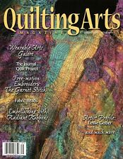 Quilting Arts Magazine Spring 2003 Issue 9 Thread Painting, Fabric Beads, Ribbon