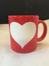 Waechtersbach Red Cup/Mug with White Heart Valentine  Made in Germany