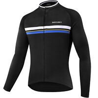 Men's Cycling Jersey long Sleeve Bike Shirt Breathable Printed Long Sleeve Bike