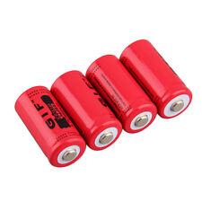 4pcs 2800mAh Rechargeable Li-ion Battery 16340 3.7V  for LED Torch Flashlight PL