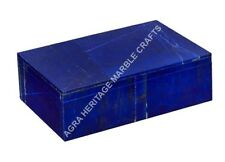 "6""x4""x2"" Marble Jewelry Storage Box Lapis Lazuli Inlay Random Girls Gift H4982"