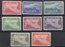 Liberia 1942-4, airmail set(8), maps and planes transatlantic route, NH #C37-44