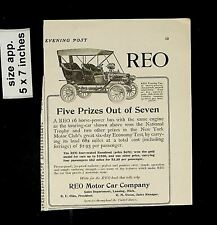 1905 REO Motor Company Prizes Vintage Print Ad 14407