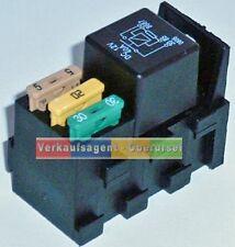 Relaissockel für KFZ Relais mit 3 Sicherungshalter / für Wohnmobil / KFZ / Boot