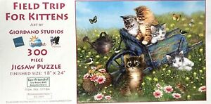 """""""""""NEW"""" FIELD TRIP FOR KITTENS - 300 PIECE JIGSAW PUZZLE -18"""" x24"""" SUNSOUT SEALED"""