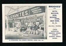 EXHIBITION International Road Congress Brookes'Ltd Halifax Granites PPC 1913