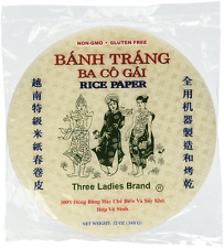 Three Ladies Spring Roll Rice Paper Wrappers 22cm (3 Packs)
