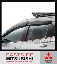 GENUINE MITSUBISHI PAJERO SPORT QE SLIMLINE WEATHERSHIELDS SET OF 4 - MZ330934