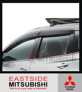 GENUINE MITSUBISHI PAJERO SPORT QE SLIMLINE WEATHERSHIELDS SET OF 4 - MZ330934