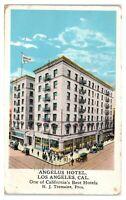 1922 Angelus Hotel, Los Angeles, CA Postcard *6J3