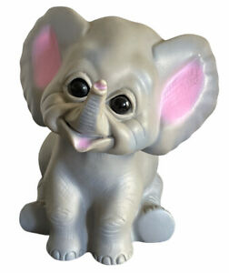 Vintage Bank Elephant Troll Doll Toy Figurine Rubber