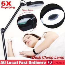 5x Magnifying Lamp Daylight Magnifier Lens Desk Table Task Craft Work Bench AU