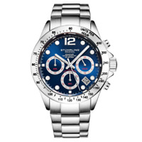 Stuhrling 3961 6 Quartz Chronograph Date Stainless Steel Bracelet Mens Watch
